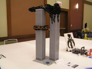 WTC Attack Lego Recreation
