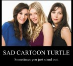 sad cartoon turtle – sometimes you just stand out
