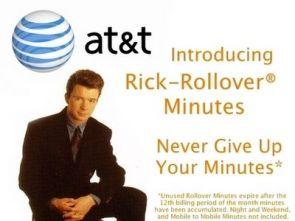 rickrollover minutes