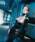 Seven of Nine in hallway