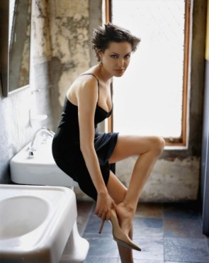 Angelina Jolie In bathroom