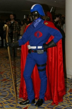 Cobra Commander Cosplayer