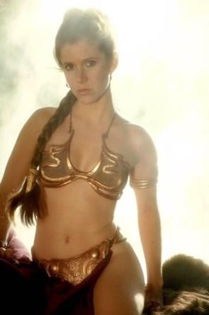 leia gold bikini