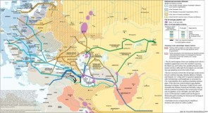 Oil map of the middle east