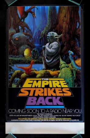 Star wars – the empire strikes back radio poster