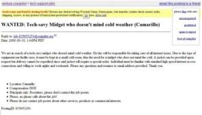 Tech-savy Midget wanted