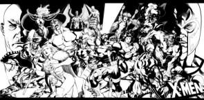 X-Men in black and white