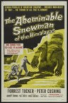 abominable snowman of the himalayas – movie poster