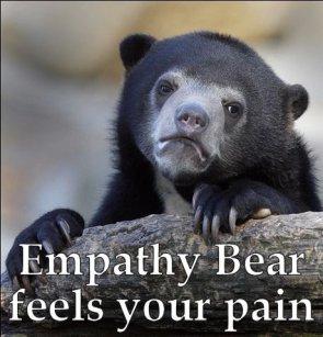 empathy bear feels your pain