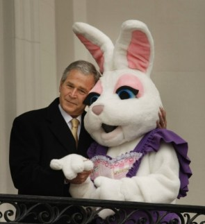 George Bush Vs Easter Bunny