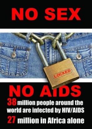 no sex – no aids