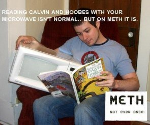 Reading Calvin and Hobbes with your microwave isn't normal – but on meth it is