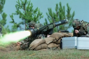 rocket launcher in action