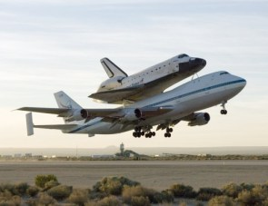 Shuttle riding bareback