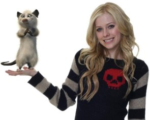 Avril Lavigne And her pet cat
