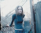 Avril Lavigne Fence Leaner