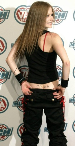 Avril Lavigne Has MMVA on her ass