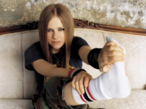Avril Lavigne wears tube socks