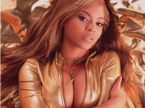 Beyonce Knowles on bed
