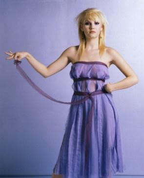 Elisha cuthbert – see through purple dress