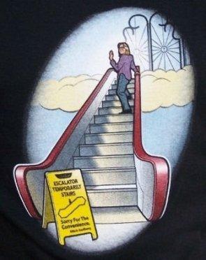 escalator temporarly stairs