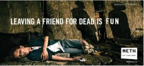 Leaving a friend for dead is fun – on meth