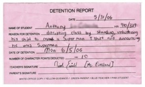 Superman Sent To Detention