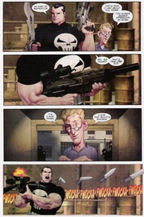 The Punisher – A gun that shoots swords