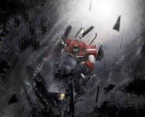 Optimus Prime – Shattered Earth Wallpaper