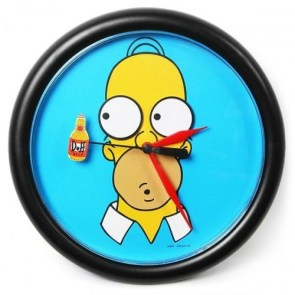 Simpsons Duff Clock
