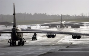 b-52 on runway