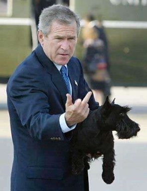 Bush Gives You The Middle Finger