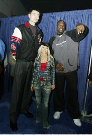 Christana and tall guys