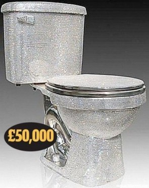 Diamond Studded Toilet