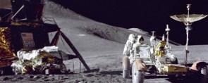 Dual Screen Moon Rover Scene