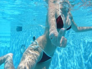Under Water Middle Finger