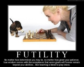 Futility – Blondes and chess