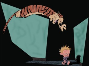 hobbes attacks calvin in the middle of the night