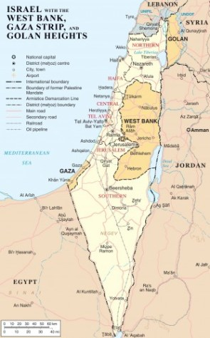 Israel Vs West Bank Vs Gaza Strip Vs Golan Geights