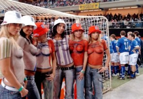 nsfw – painted soccer fans