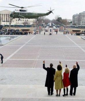 Obama Says Goodbye To Bush