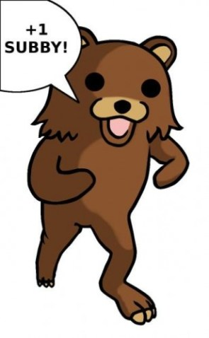 pedobear – plus one subby