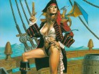 Sexy Pirate With Dragon