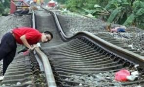Wavey Train Tracks