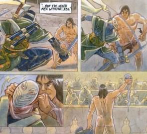 conan kills a dude with his loin cloth
