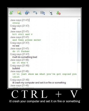 Ctrl + V