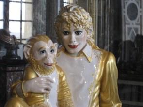 michael jackson and monkey statue