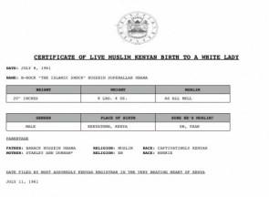 Barak Obama\'s Birth Certificate