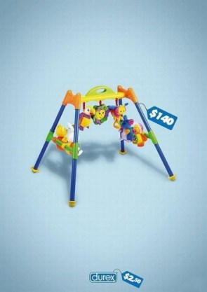 Durex baby toy advertisement