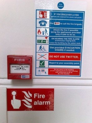 In case of fire – DO NOT USE TWITTER